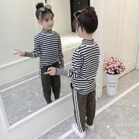 童装女童T恤秋装2018新款女大童洋气时髦打底衫8秋季儿童长袖上衣