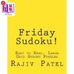 【中商海外直订】Friday Sudoku!: Easy to Read, Large Grid Sudoku Puz
