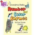 【中商海外直订】Grandma Stella Number and Color Rhymes: Mother Goos