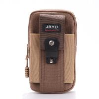 20180830041338432手机包男士帆布多功能穿皮带腰包5.5寸竖款手机袋腰挂扣手机腰包 简约版帆布 咖啡色