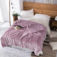 毛毯被子加厚双层冬季双人单人小毯子保暖珊瑚绒
