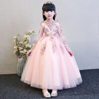 儿童礼服公主裙女童蓬蓬纱长袖钢琴演出服生日晚礼服花童婚纱冬季