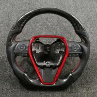 八代凯美瑞碳纤维方向盘 汉兰达锐志RAV4碳纤维方向盘改装