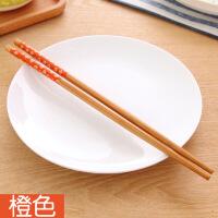日式创意筷子家用实木尖头快子木质筷子套装家用日本樱花筷1双装