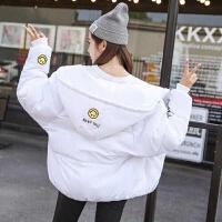 加厚冬季外套连帽女装大码面包服女学生短款棉衣韩版棉袄宽松