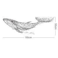 【品质好货】遨游的鲸鱼电视背景墙贴纸创意客厅沙发墙壁装饰卧室床头贴画自粘 特大