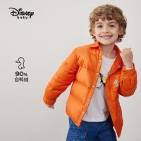 9.25超品返场【2.5折预估价:121.2元】迪士尼男童梭织衬衫式轻薄羽绒服中大童宝宝短款潮