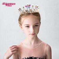 皇冠头饰儿童发饰金色女童公主王冠花童彩色头箍女孩发箍发夹发卡
