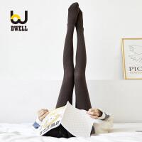 【11.2-11.7 大牌周 满100减50】BWELL 棉质竖纹纯色防滑修身瘦腿打底女士连裤袜