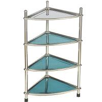 不锈钢脸盆架 多层三角架厨房浴室卫生间落地置物架面盆架加厚