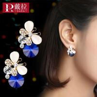 女士气质耳钉无耳洞耳夹高级感法式耳饰925银耳环