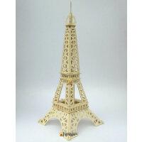 3d立体木质puzzle成人立体拼图 木头积木拼图建筑艾菲尔铁塔模型