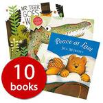 英文原版 Wild Animals Picture Book野生动物绘本10本套装