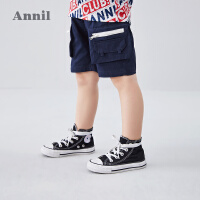 【活动价:76.05】安奈儿童装男童中裤2020夏季新款小童口袋时尚个性休闲中裤