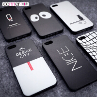 �O果5s手�C��iphone5s保�o套新款硬��5se男��性��意玻璃全包�潮