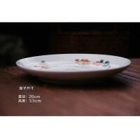 景德镇手工绘釉下彩高温陶瓷餐具套装中式家用碗盘碟子礼品装