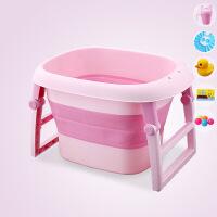 抖音同款折叠浴桶宝宝洗澡桶儿童泡澡婴儿浴盆可坐躺新生儿游泳桶