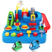越�\托�R斯小火�套�b�道停���和�汽��J�P大冒�U男孩5玩具3�q 火��v�U - �{色火�+�G色火� 大�Y盒包�b+直升�C+