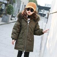 儿童冬季棉衣2018新款外套韩版中长款时髦棉袄厚款棉服女孩