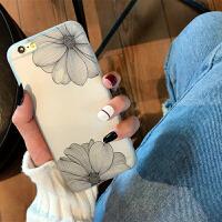 花手机壳苹果x手机壳硅胶防摔iphone7/8plus保护套6s女款简约软薄