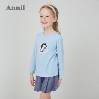 【活动价:88】安奈儿童装女童长袖T恤印花2020春季新款甜美上衣