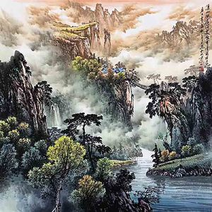 国家一级美术师,中美协常务理事,被业界称为长城画派第一人王大为(溪山幽居)42
