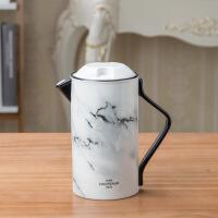 北欧水具套装石纹过滤托盘花茶壶4杯套装冷水壶陶瓷咖啡杯具