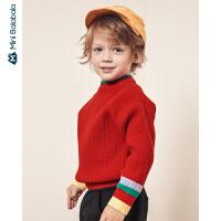 【周年庆 3折价:60】迷你巴拉巴拉儿童毛衣针织衫男童2019冬季新款童装宝宝撞色毛衫