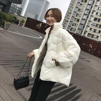 2019冬季轻薄羽绒服女学生韩版短款宽松加厚百搭外套 均码