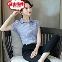 2019职业装夏季新款韩版衬衫女短袖修身OL白领学生面试衬衣批发