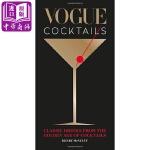 【中商原版】时尚单品:鸡尾酒 英文原版 Vogue Cocktails 酒类 Henry Mcnu