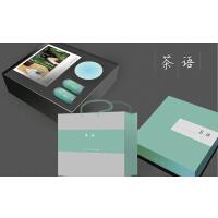 茶语(茶语礼盒:西湖龙井、铁观音、青瓷斗笠碗、图书《生活绿茶禅》和《无诗不成唐》)
