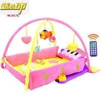 【六一儿童节特惠】 婴儿脚踏钢琴健身架器宝宝音乐游戏毯新生儿玩具0-1岁3-6