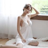 情趣睡衣冬季女式蕾丝露背仿真丝吊带睡衣睡裙情趣内衣性感制服套装血滴子