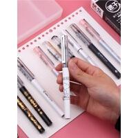 晨光直液式走珠笔0.5mm新款速干优品中性笔黑色学生签字笔考试专用限定史努比办公笔0.38mm米菲樱花女生笔