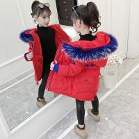 儿童冬季2018新款韩版棉衣女孩中长款棉服加厚外套潮