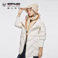 【NU】【诺诗兰品牌特惠】诺诗兰新款女士潮牌高充绒保暖防风羽绒服KD062801