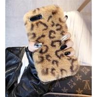 豹纹毛绒苹果8plus手机壳女款iphone7保护套冬季绒布全包6plus防摔7p潮牌6s新款i i6/6s 4.7