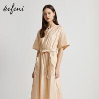 伊芙丽收腰职业连衣裙