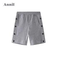 【2件3折价:65.7】商场同款安奈儿童装男童全腰针织中裤2020新款男生运动五分裤