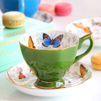 美式骨瓷咖啡杯套�b�W式英式下午茶具陶瓷�t茶杯碟小