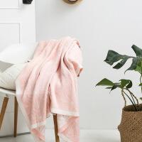 北欧风纯棉针织毛毯夏季全棉毛巾被薄毯午睡空调毯毯子 120x160cm
