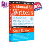 【中商原版】芝加哥大学论文写作指南(第九版)英文原版 A Manual for Writers of Research