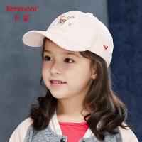 卡蒙6-9岁小女孩鸭舌帽麂皮绒儿童棒球帽刺绣秋冬亲子帽韩版潮流4695