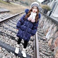 儿童棉衣2018新款中长款冬季厚款外套中大童洋气棉袄女
