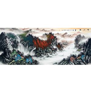 中国美协会员,中国书协会员,龙云书画院院长侯桂峰(峡江烟云)6