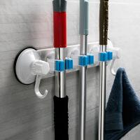卫生间吸盘置物架厕所壁挂浴室用品用具吸壁式收纳架免打孔拖把架 拖把架 图片色