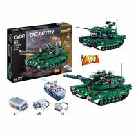积木拼装玩具男孩子益智儿童遥控车赛车模型机械组超难