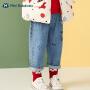 【秒杀价:60】迷你巴拉巴拉宝宝长裤2020秋男童女童百搭牛仔裤印花裤子
