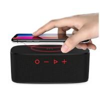 朗琴(ROYQUEEN)H5000蓝牙4.2插卡音箱 手机无线充电 TWS互联 大振膜 强劲重低音音响 魅惑黑